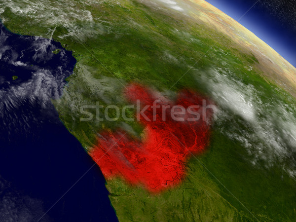 Congo espace rouge 3d illustration Photo stock © Harlekino