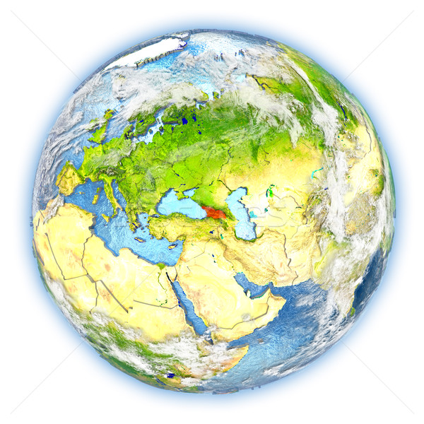 Geórgia terra isolado vermelho planeta terra ilustração 3d Foto stock © Harlekino