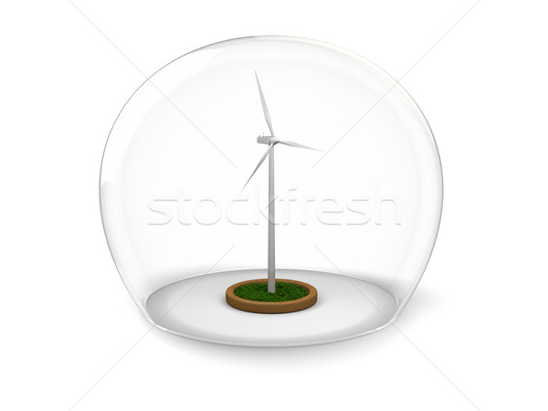 Windmill in glass bowl Stock photo © Harlekino