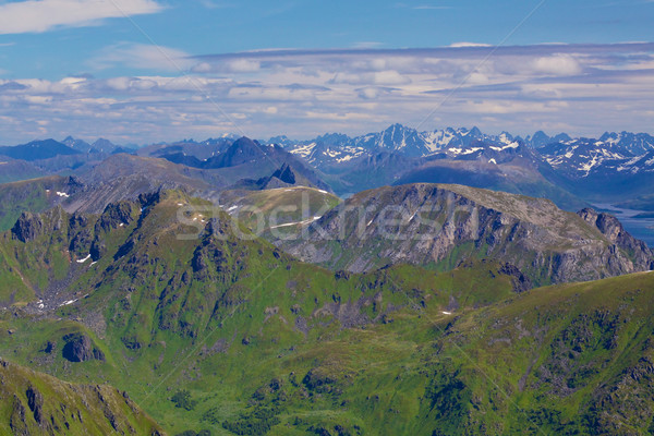 Norwegian peaks Stock photo © Harlekino