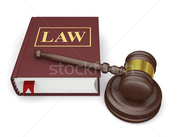 法 図書 小槌 孤立した 白 シンボル ストックフォト © Harlekino