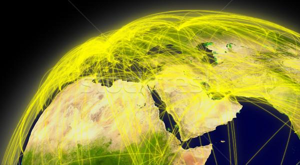 Middle East connections Stock photo © Harlekino