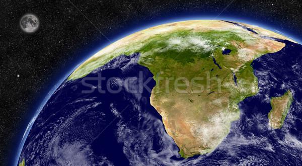 Afrique du Sud planète terre région espace lune étoiles Photo stock © Harlekino