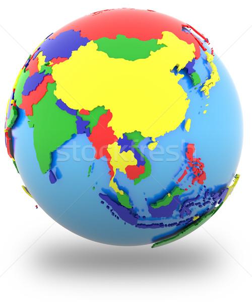 Asia on Earth Stock photo © Harlekino