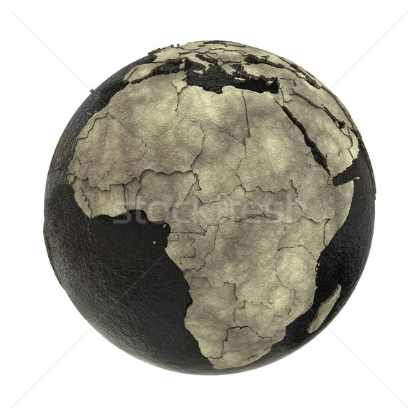 Africa on Earth of oil Stock photo © Harlekino