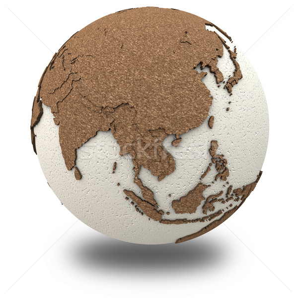 Southeast Asia on light Earth Stock photo © Harlekino