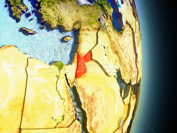Foto stock: Jordânia · vermelho · espaço · modelo · ilustração · 3d