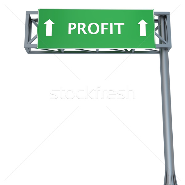 Profit signboard Stock photo © Harlekino