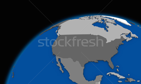 north America on planet Earth political map Stock photo © Harlekino