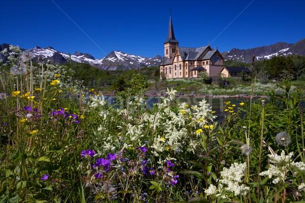 Сток-фото: собора · живописный · известный · ориентир · Норвегия