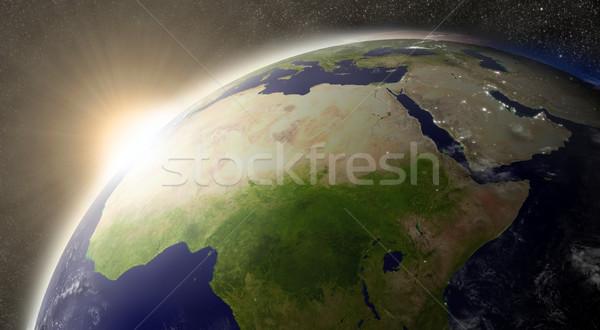 Sun over North Africa Stock photo © Harlekino