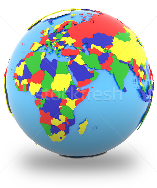Eastern Hemisphere on the globe Stock photo © Harlekino