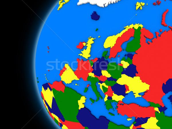 европейский континент политический земле иллюстрация мира Сток-фото © Harlekino