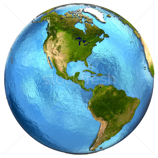 Stock photo: American continents on Earth