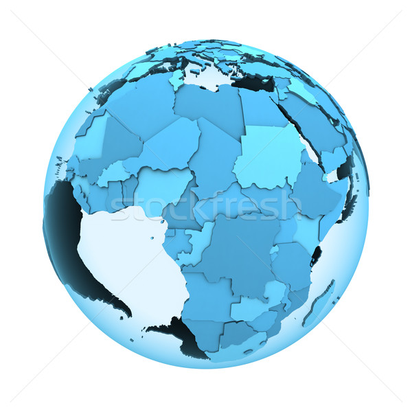Africa on translucent Earth Stock photo © Harlekino