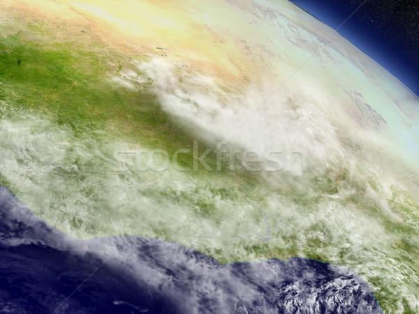 Elefántcsontpart Ghána Burkina űr régió pálya Stock fotó © Harlekino
