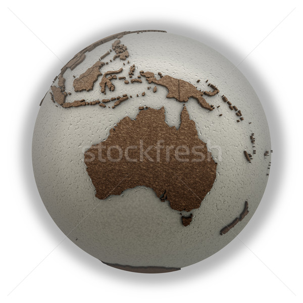 Australien Licht Erde 3D Modell Planeten Erde Stock foto © Harlekino