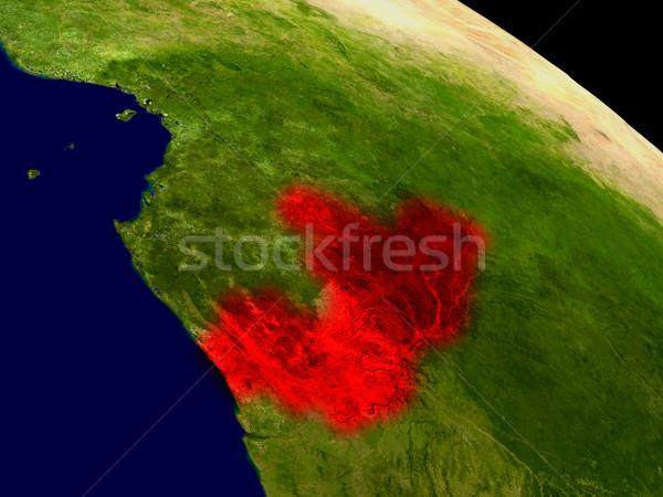 Kongo uzay kırmızı 3d illustration ayrıntılı Stok fotoğraf © Harlekino