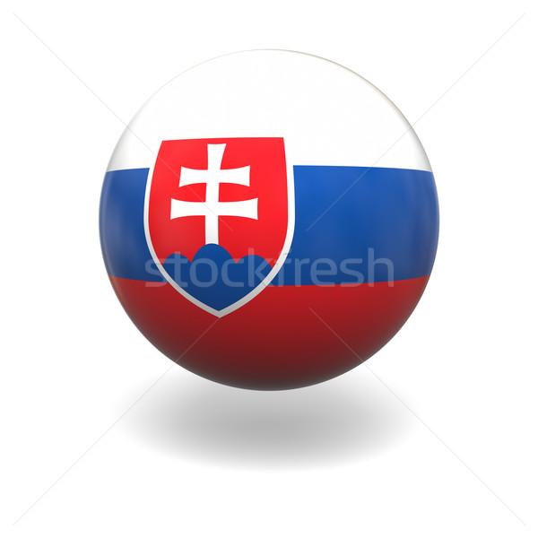 Slovakian flag Stock photo © Harlekino