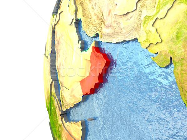 Umman kırmızı dünya okyanus 3d illustration Stok fotoğraf © Harlekino