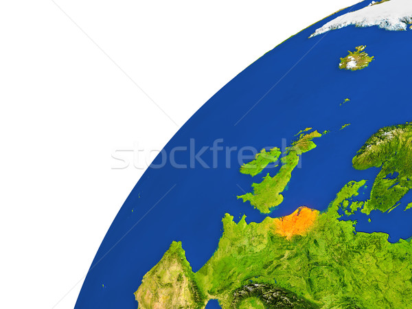 国 オランダ 衛星 表示 赤 軌道 ストックフォト © Harlekino