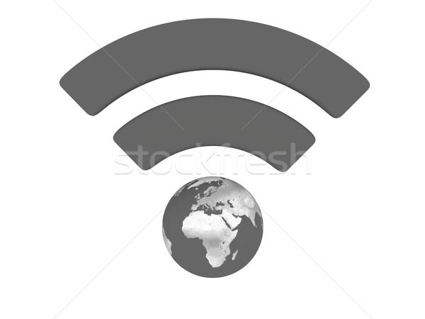 Grey WiFi symbol Stock photo © Harlekino