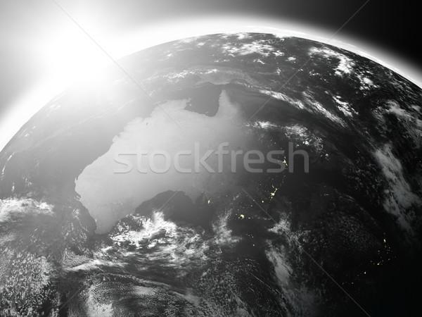 Stock fotó: Napfelkelte · Ausztrália · űr · kilátás · nap · emelkedő