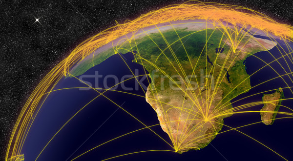 Air travel in South Africa Stock photo © Harlekino