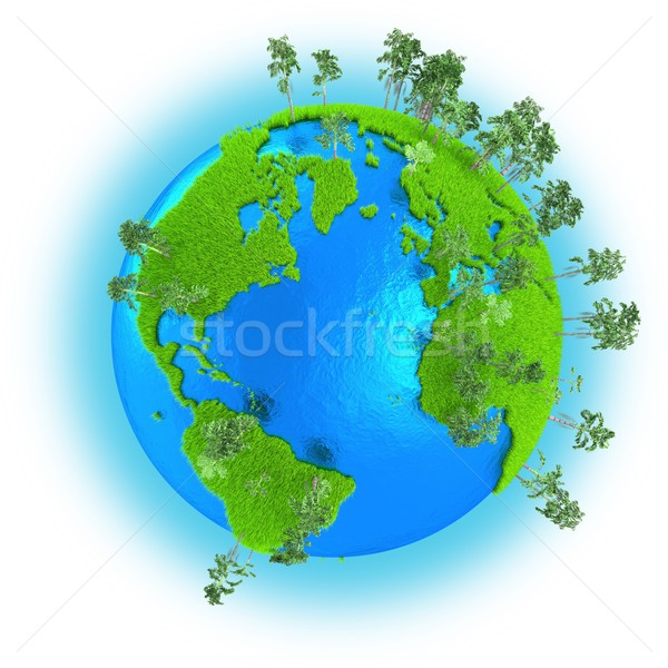 Americas, Europe and Africa on planet Earth Stock photo © Harlekino