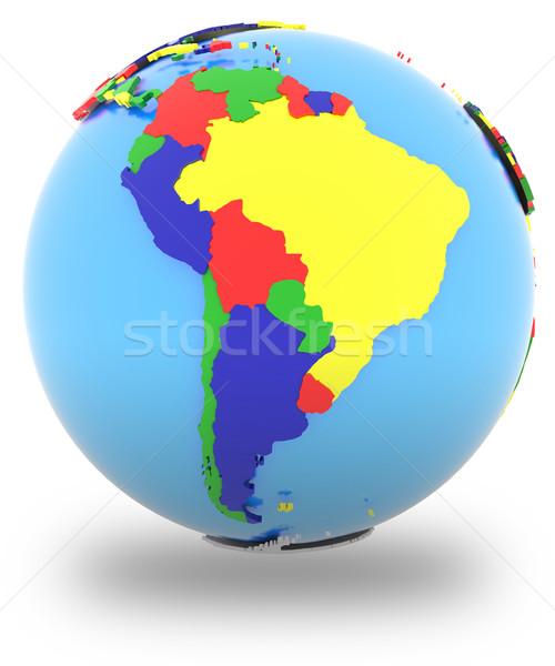 Dél-amerika földgömb politikai térkép országok négy Stock fotó © Harlekino