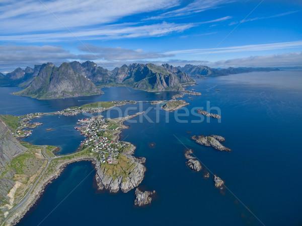 Lofoten aerial Stock photo © Harlekino