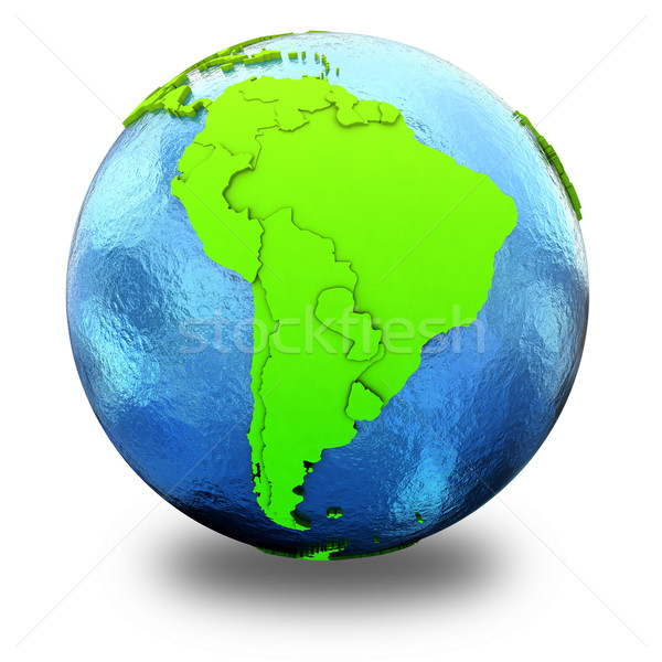 South America on green Earth Stock photo © Harlekino