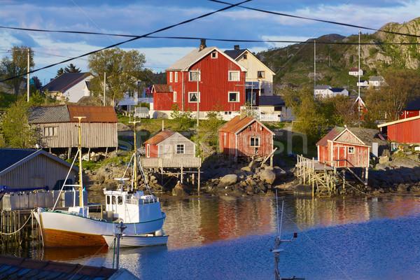 Fishing town of Reine Stock photo © Harlekino