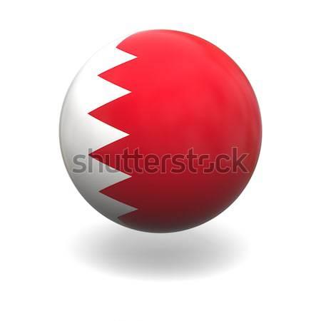 Bahrein bandeira esfera isolado branco Foto stock © Harlekino