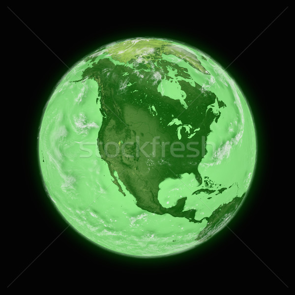 North America on green planet Earth Stock photo © Harlekino