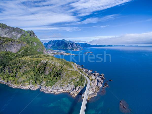 Road on Lofoten Stock photo © Harlekino