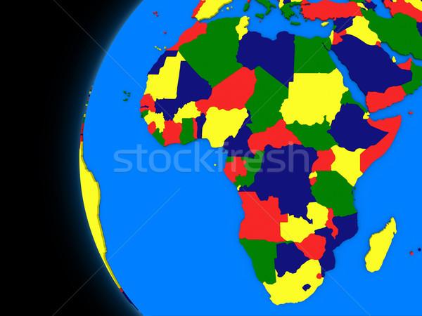 Africano continente político terra ilustração globo Foto stock © Harlekino