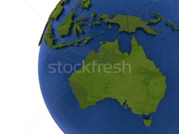 австралийский континент земле Австралия подробный модель Сток-фото © Harlekino