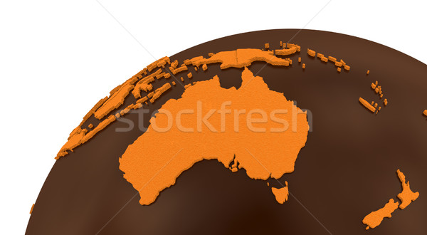 Austrália chocolate terra modelo planeta terra doce Foto stock © Harlekino