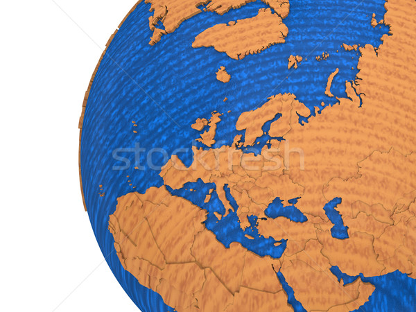 Europe on wooden Earth Stock photo © Harlekino