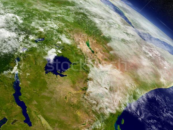 Kenya, Uganda, Rwanda and Burundi from space Stock photo © Harlekino