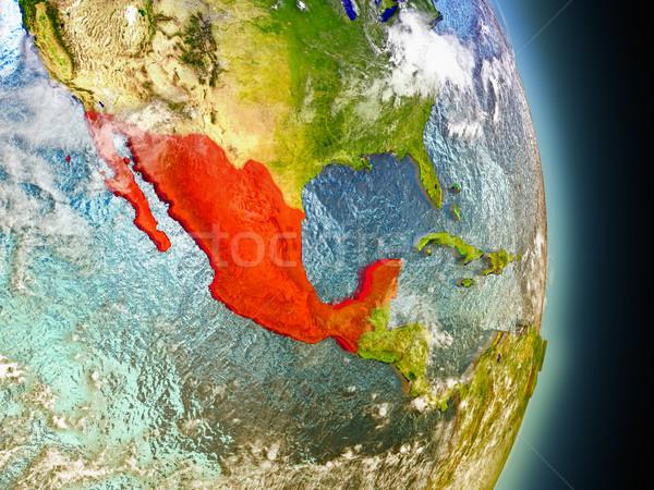 México vermelho espaço modelo ilustração 3d Foto stock © Harlekino