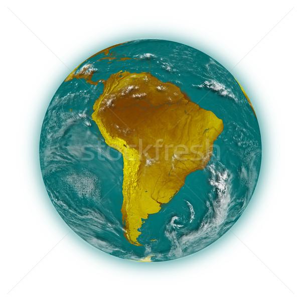 Sud america pianeta terra blu isolato bianco elementi Foto d'archivio © Harlekino