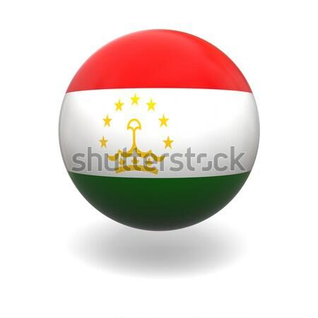 Таджикистан флаг сфере изолированный белый Сток-фото © Harlekino