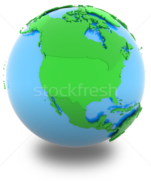 North America on the globe Stock photo © Harlekino