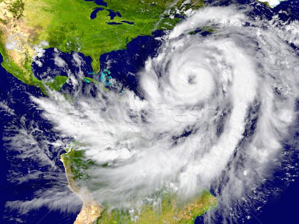 Hurricane over the Atlantic Stock photo © Harlekino