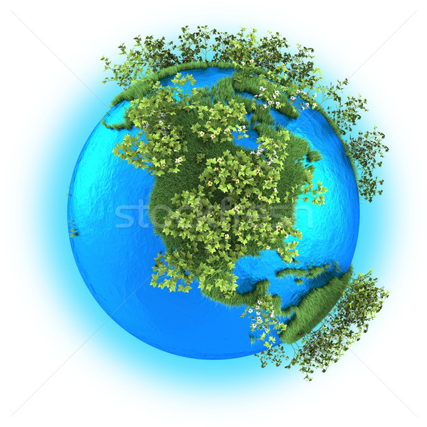 North America on planet Earth Stock photo © Harlekino
