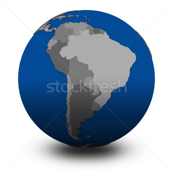 Güney amerika siyasi dünya örnek yalıtılmış beyaz Stok fotoğraf © Harlekino