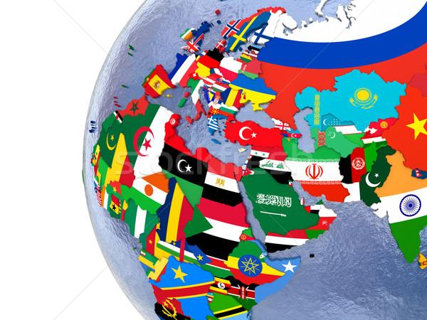 Political EMEA map Stock photo © Harlekino