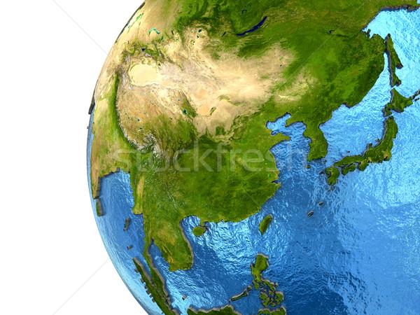 Asian continente terra Asia dettagliato modello Foto d'archivio © Harlekino